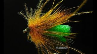 Tying a Foam Body Unsinkable Olive Elk Hair Caddis Dry Fly by Mak