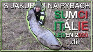 S Jakubem na rybách - Sumci s Honzou Pokorným - Itálie - Leden 2020